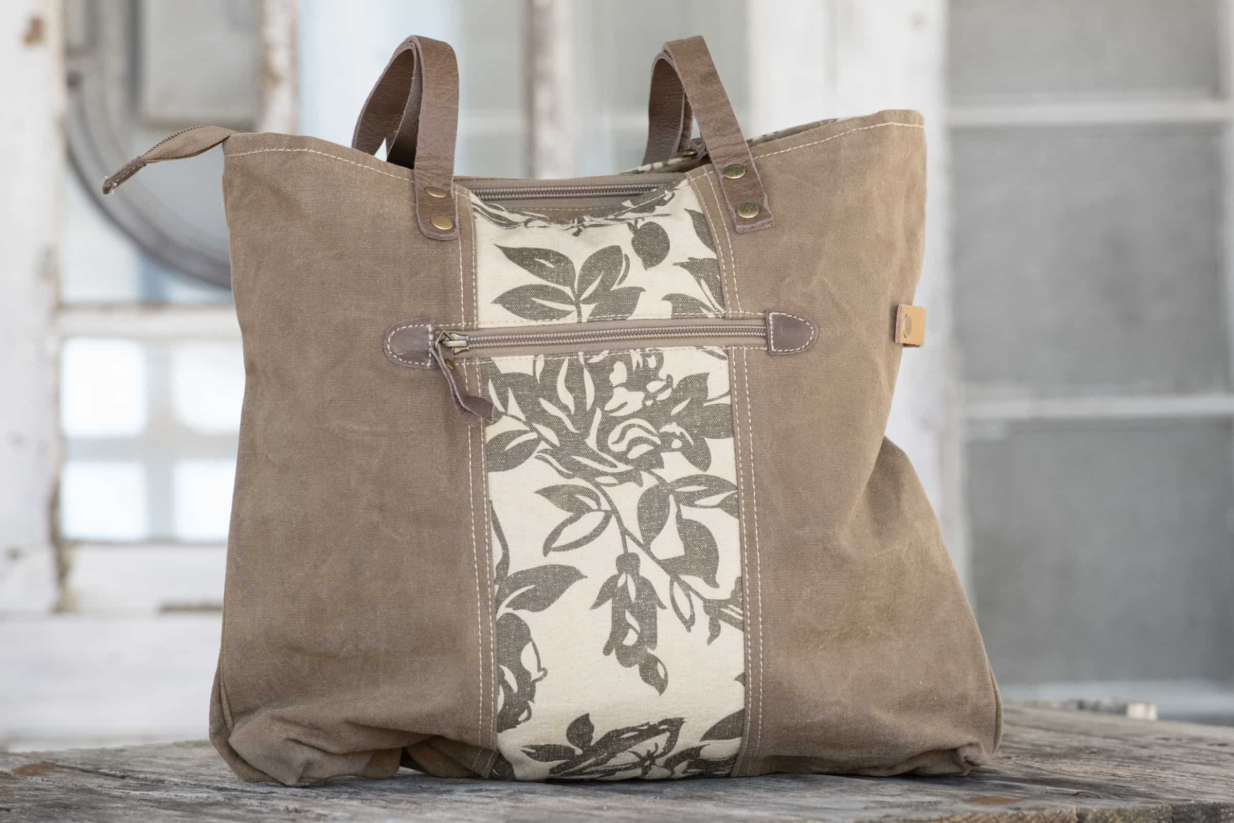 bags made from recycled canvas